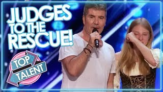 Video JUDGES TO THE RESCUE! Simon Cowell & Co Step In To SAVE AUDITIONS On GOT TALENT & X FACTOR MP3, 3GP, MP4, WEBM, AVI, FLV Juni 2019