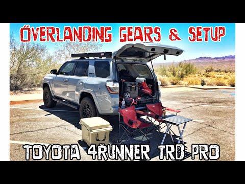 【25】Overlanding / Camping Setup!! MUST SEE!! 2017 4Runner TRD PRO Cement [4K]