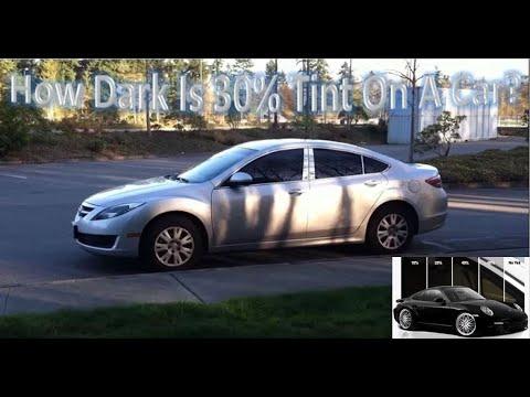 How Dark Is 30% Tint On A Car??
