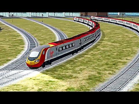 Train Sim - Mountain Pass Using 390 Pendolino - Simulasi Kereta Api