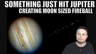 Video Something Just Collided With Jupiter and Created a Huge Explosion MP3, 3GP, MP4, WEBM, AVI, FLV Agustus 2019