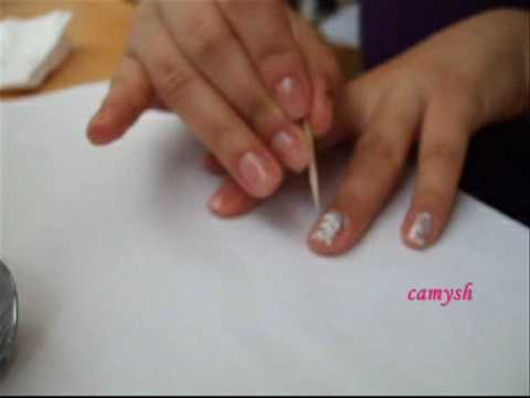 Marbled Manicure - Nail art tutorial (видео)