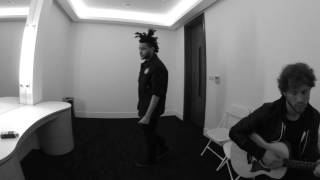 The Weeknd Backstage Warmups