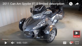 6. 2012 Can Am Spyder RT S  description
