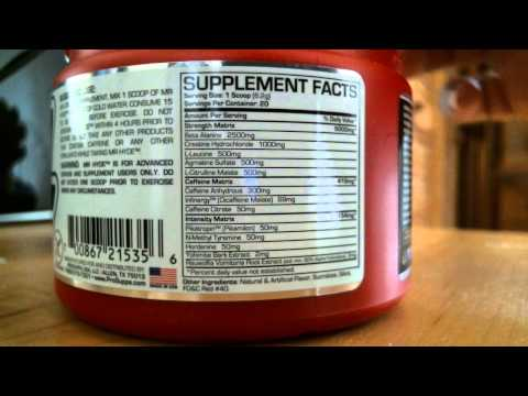 Mr Hyde Pre Workout Bodybuilding Supplement Review