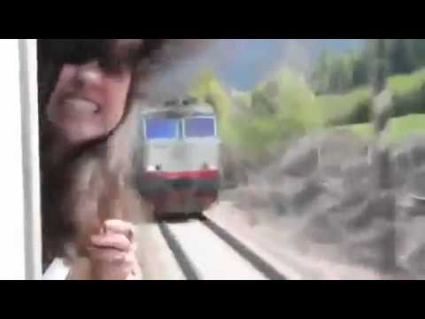 Girl almost decapitated by sticking HEAD out of Train Window (REAL)
