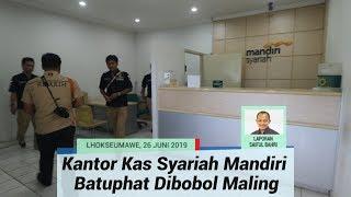 Kantor Kas Syariah Mandiri Kompleks Perumahan PT PAG Batuphat Lhokseumawe Dibobol Maling