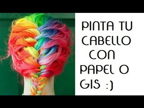 PINTA TU CABELLO DE COLORES – 2 TECNICAS (PAPEL Y GIS)