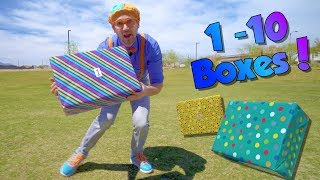 Video Blippi Teaches Numbers 1 to 10 for Children | Surprise Boxes! MP3, 3GP, MP4, WEBM, AVI, FLV Maret 2019