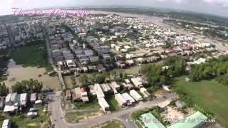 Toàn Cảnh Thị Xã Hồng Ngự Nhìn Từ Trên Cao Xuống 2014