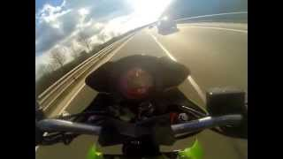 8. kawasaki z1000 acceleration wheeling 0-280km/h top speed vmax