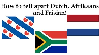 Ever wondered if the language you're looking at online is Dutch, Afrikaans or Frisian? Well with these helpful tips you'll know every time! Like, comment and ...