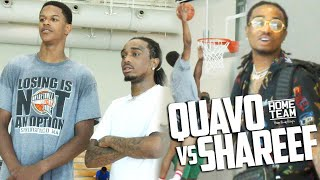 Quavo (Migos), Shareef O'Neal, Shaqir O'Neal & Friends play against each other in a pick up game in Los Angeles.