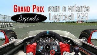 Jogando Grand Prix Legends no volante G29 pela 1ª vez | Flagamer S09E04