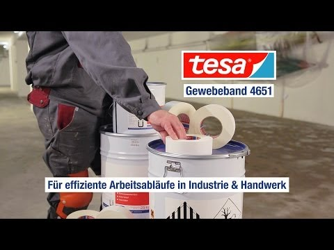 Produktfilm tesa Gewebeband - die starke Lösung bei Bodenbeschichtungen