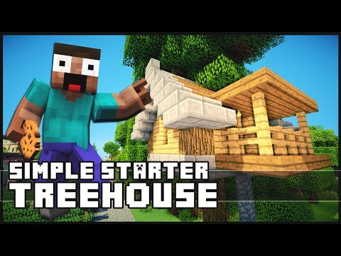 minecraft how to build a simple starter treehouse start a business