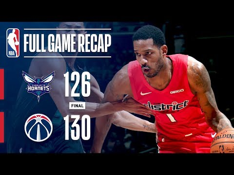 Video: Full Game Recap: Hornets vs Wizards | Washington Edges Charlotte