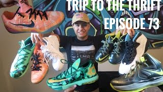 Trip to The Thrift #73 I HIT THE JACKPOT!! SNEAKER STEALS!! L...