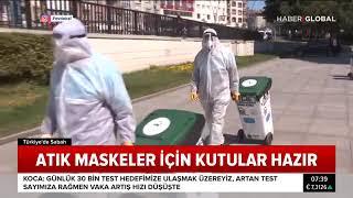 Maske Ve Eldivenler İçin Tıbbi Atık Kutuları Yerleştirdik - Haber Global