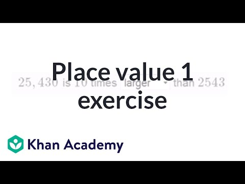 Understanding Place Value Video Khan Academy
