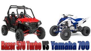 9. Razor 570 VS Yamaha 600 WHOS FASTER ?