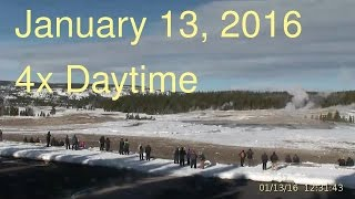 January 13, 2016 Upper Geyser Basin Daytime 4x Streaming Camera Captures
