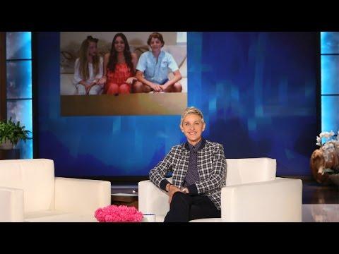 A Surprise for a Lovely Family of Ellen Fans