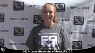 2021 Lanie Blomquist Catcher and First Base Softball Skills Video