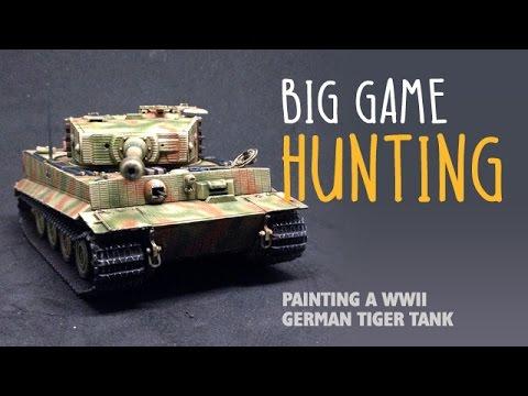 Big game hunting: Painting a WWII German Tiger tank видео