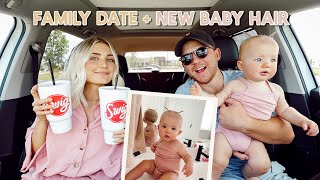 we went on a family date! golfing, car snacks + baby pigtails!!!!! by Aspyn + Parker