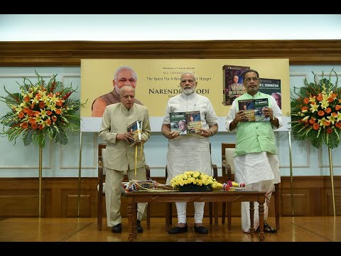 PM Modi at release a book written by MS Swaminathan