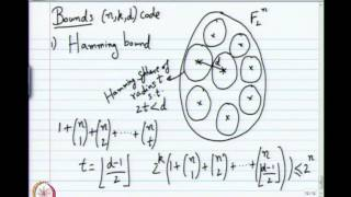 Mod-01 Lec-06 Bounds On Code Parameters