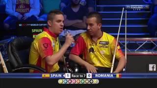 Spain vs Romania, World Cup Of Pool 2017 R1