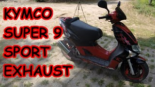 10. Kymco Super 9 Sport stock exhaust sound