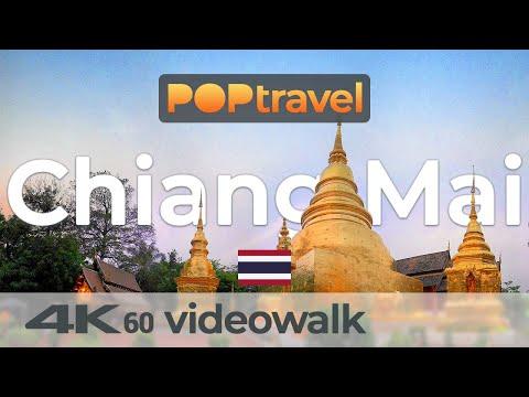Walking in CHIANG MAI / Thailand - 4K 60fps (UHD)