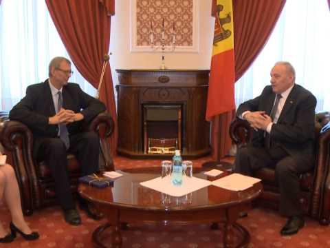 Moldovan president meets German envoy