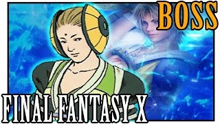 Belgemine is a non-player character in Final Fantasy X. She is a summoner who tests the strength of Yuna's aeons. She is also mentioned in Aquila's Fiend Tal...