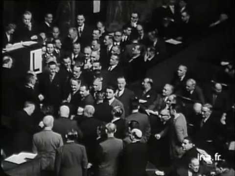 René Coty est élu Président de la République française - décembre 1953