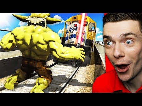 Can YODA HULK STOP THE TRAIN In GTA 5? (Mods)