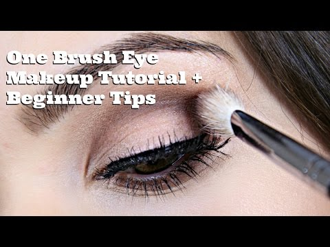 One Brush Eye Makeup Tutorial + Beginner Tips
