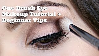One Brush Eye Makeup Tutorial + Beginner Tips - YouTube