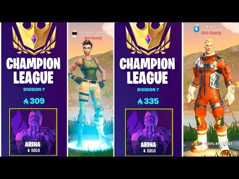 I Got In CHAMPION LEAGUE *TWICE* With TWO ACCOUNTS... (Fortnite Arena)