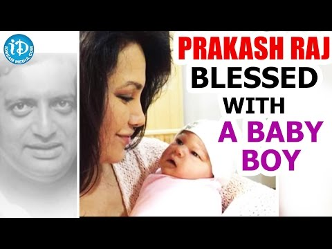 Prakash Raj Blessed With A Baby Boy || Film Actor Prakash Raj