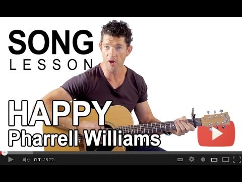 How to play Happy by Pharrell Williams on Guitar with Mark the Guitar Guy