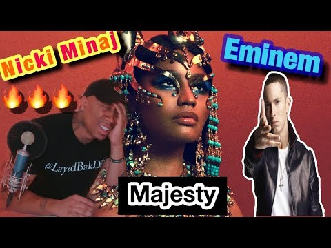 TRASH or PASS- Nicki Minaj - MAJESTY ft EMINEM [REACTION] Queen Album REVIEW!