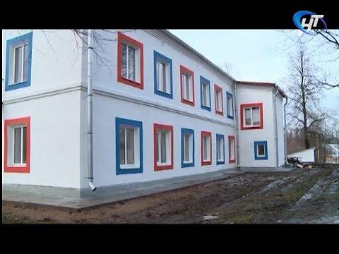 Наша съемочная группа побывала в строящемся детском саду в Сольцах