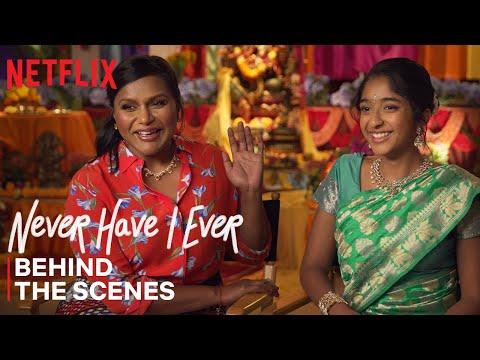 Never Have I Ever | Mindy Kaling & Maitreyi Ramakrishnan Celebrate Ganesh Puja Episode | Netflix