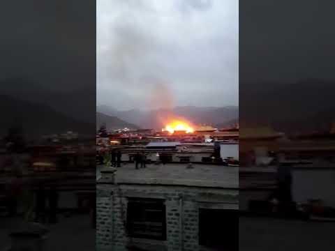 西藏大昭寺失火 中共黨媒稱無文物損壞[影]