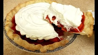 This recipe is an easy and delicious way to use fresh strawberries. Its perfect for anytime of the year, but its best when strawberries are at peak season. You can use a pre-made pie shell or your own favorite pie crust recipe. I decided to use the Fresh Strawberry Pie from Flying saucer Pie Co. as inspiration for this recipe. If you live in the Greater Houston, Texas area or just visiting, you should definitely make your way to the Flying Saucer Pie Co. shop for a fresh slice. INGREDIENTS1 1/2 lbs Fresh Strawberries9 inch deep dish pie shell (from scratch or pre-made)GLAZE RECIPE3/4 cup sugar3 tbls corn starch1 1/2 cups water2 to 3 tbls Strawberry JelloPIE CRUST1 3/4 cups all purpose flour1 tbls sugar1/2 tsp salt1/2 cup shortening3 to 4 tbls ice cold waterWHIPPED CREAM1 1/2 cups heavy cream2 tbls confectioner's sugar**Canned Whipped cream or Cool Whip work as wellMUSIC by: http://www.bensound.com/royalty-free-musicSong: Funny SongHow to make a Strawberry PieStrawberry Glaze RecipeFresh Strawberry Recipe IdeasSummer RecipeEasy Strawberry Pie RecipeEasy Pie Crust RecipeHow to Make Strawberry FillingSimple Strawberry PieFresh StrawberriesSummer Dessert RecipesClassic Strawberry Pie Homemade Strawberry PieHouston TX You Tube