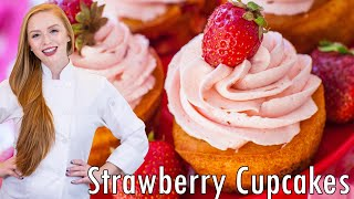 Easy Strawberry Cupcakes by Tatyana's Everyday Food